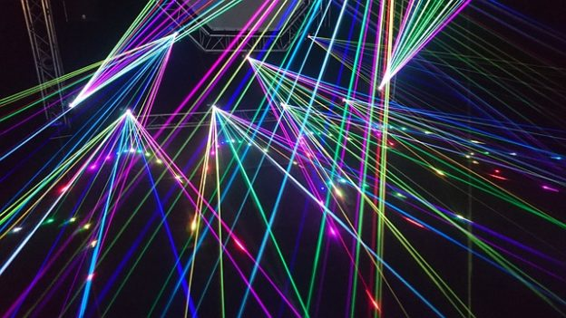 Lasershows Projektionen Events