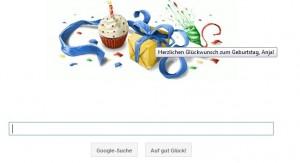 Google gratuliert mit zum Geburtstag